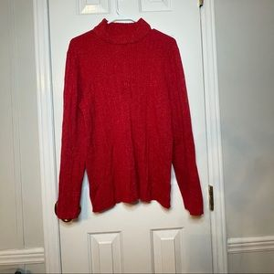 Cato Red Shimmer Sweater